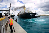 The UN's International Maritime Organization is responsible for measures to improve the safety of international shipping and to reduce pollution from ships. Members discussed a heavy fuel oil ban at a meeting this week. (Credit: Robert Nickelsberg/Getty Images) Click to Enlarge.