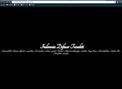 Website Resmi Diskominfomas Jakarta Diretas