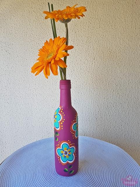 Ideias de garrafas pintadas a mão