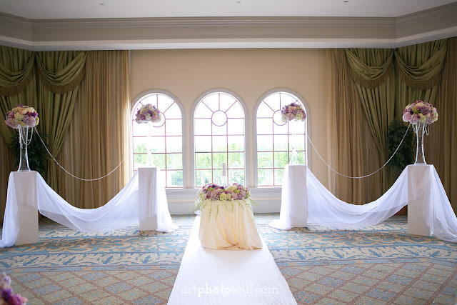 Ceremony - Orlando - Real Wedding - Joie de Vie Wedding - Rosen Shingle Creek - Kirby - Purple - Atmospheres Floral