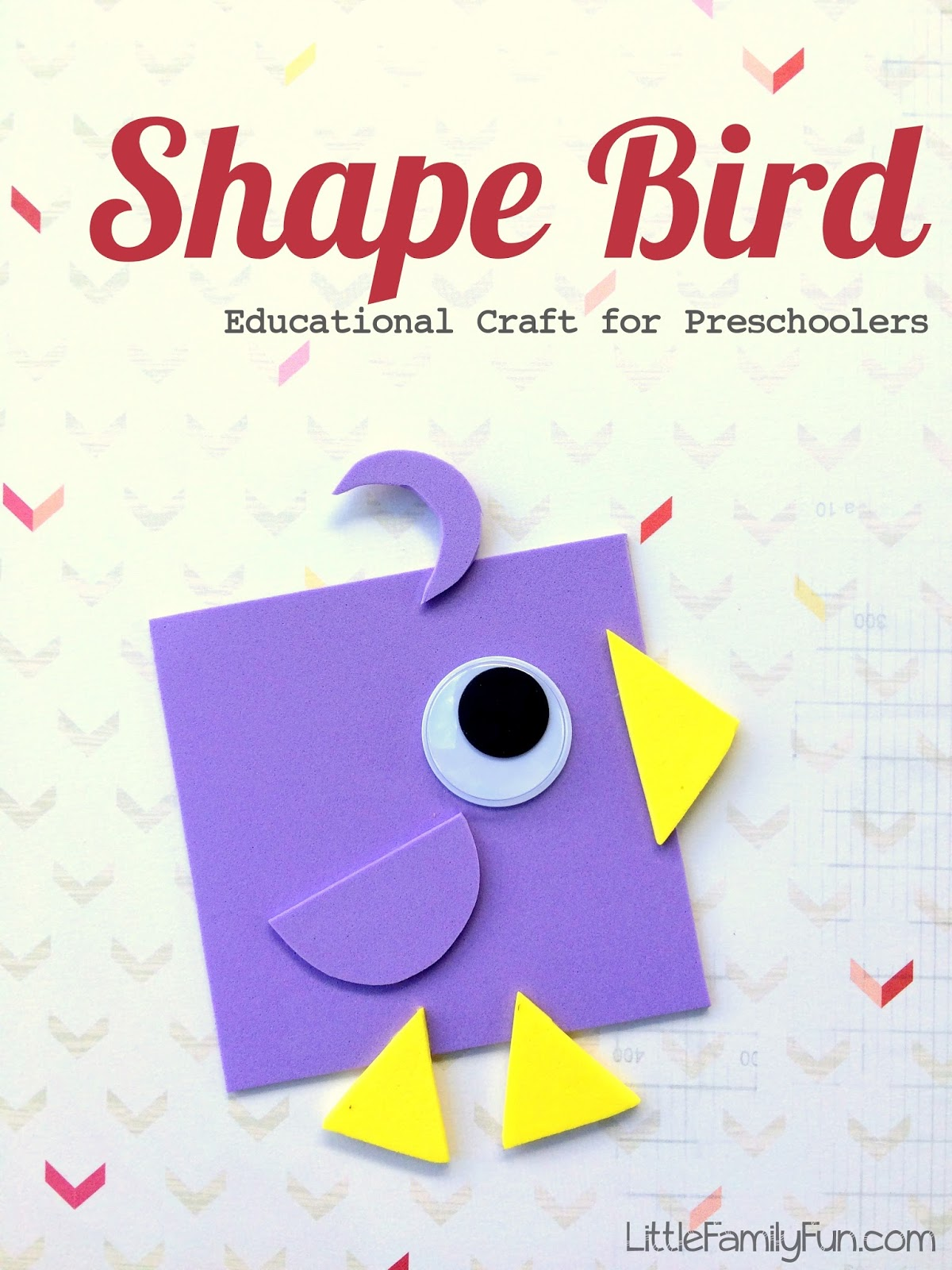 easy craft ideas for preschoolers shape bird educational craft 6512