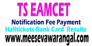 TS EAMCET Notification Exam 2017 Important Dates