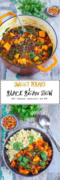 SWEET POTATO & BLACK BEAN STEW