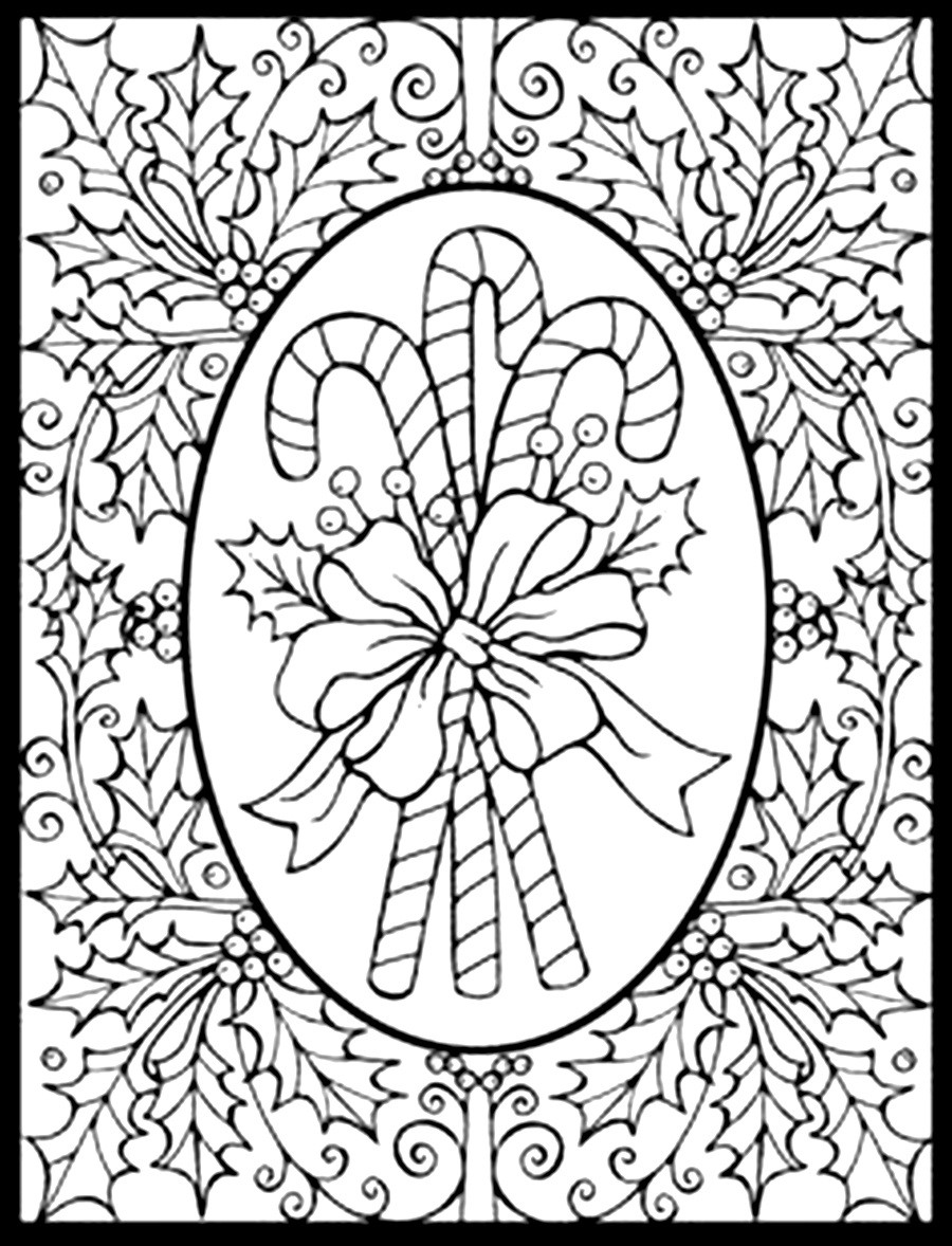 Serendipity: Adult Coloring pages: Seasonal: Winter/Christmas | christmas coloring sheets for adults