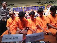 Polsek Depok Barat Bekuk Kompolotan  Curanmor  Jaringan Lampung