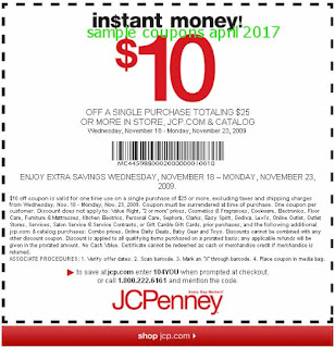 free JcPenney coupons april 2017