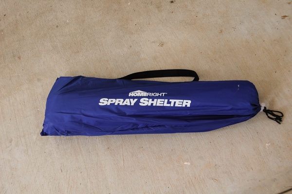 HomeRight spray shelter in bag.