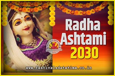 2030 Radha Astami Pooja Date and Time, 2030 Radha Astami Calendar