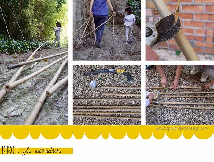 DIY tipi: la estructura