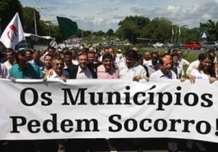 Resultado de imagem para municipios pedem socorro