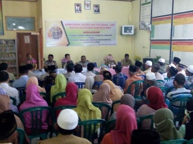 BPN Fokus Pembuatan 1.750 Sertifikat di Desa Dena Madapangga