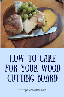 Three steps to cutting board care.