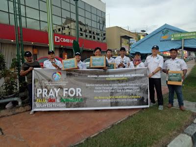 DPD AJO Indonesia Kepri Turun ke Jalan Galang Donasi Untuk Palu-Sigi-Donggala