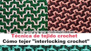 Aprende a tejer crochet entrelazado o interlocking / Técnica de tejido