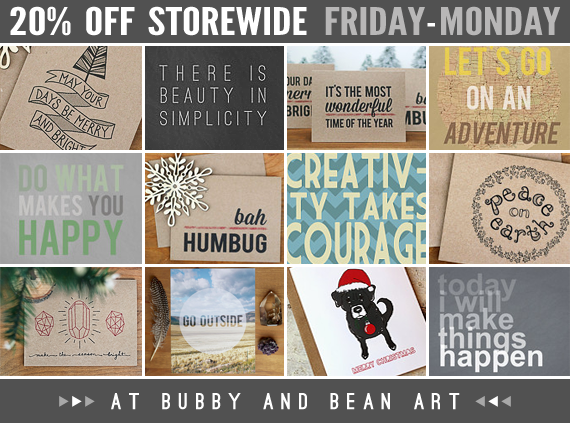 20% Off Storewide at Bubby & Bean Art!