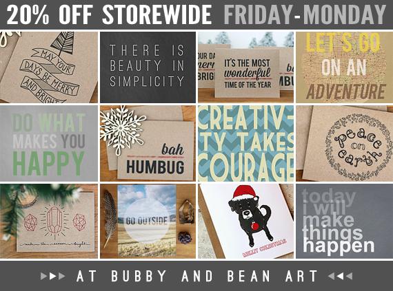 20% Off Storewide at Bubby & Bean Art!