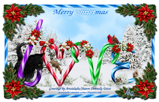 Christmas Card Candy Cane Love 2 by/copyrighted to Artsieladie
