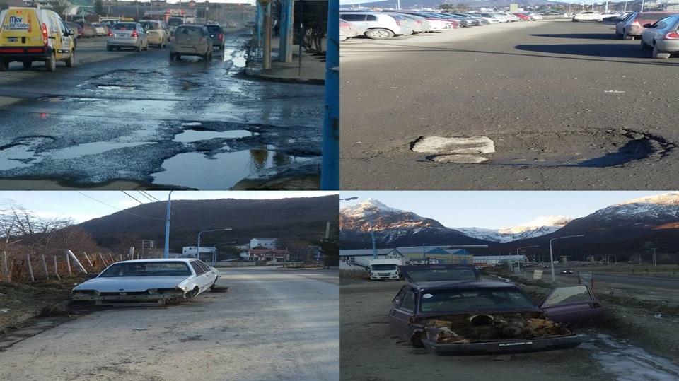 Ushuaia destruida, abandonada y sucia