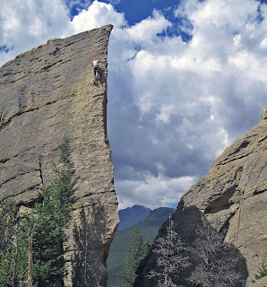 Sport climbing in Rocky Mountain National Park