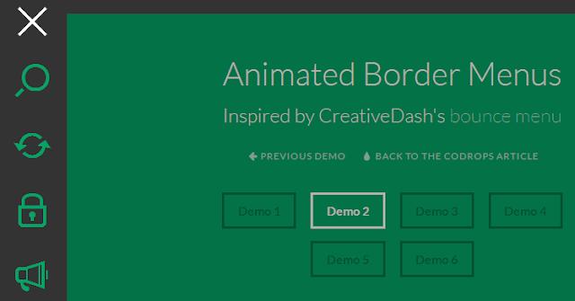 Animated Border Menus