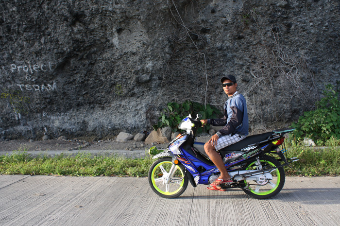 Kuya Jovan, the habal-habal driver who showed us the best spots of Limasawa Island