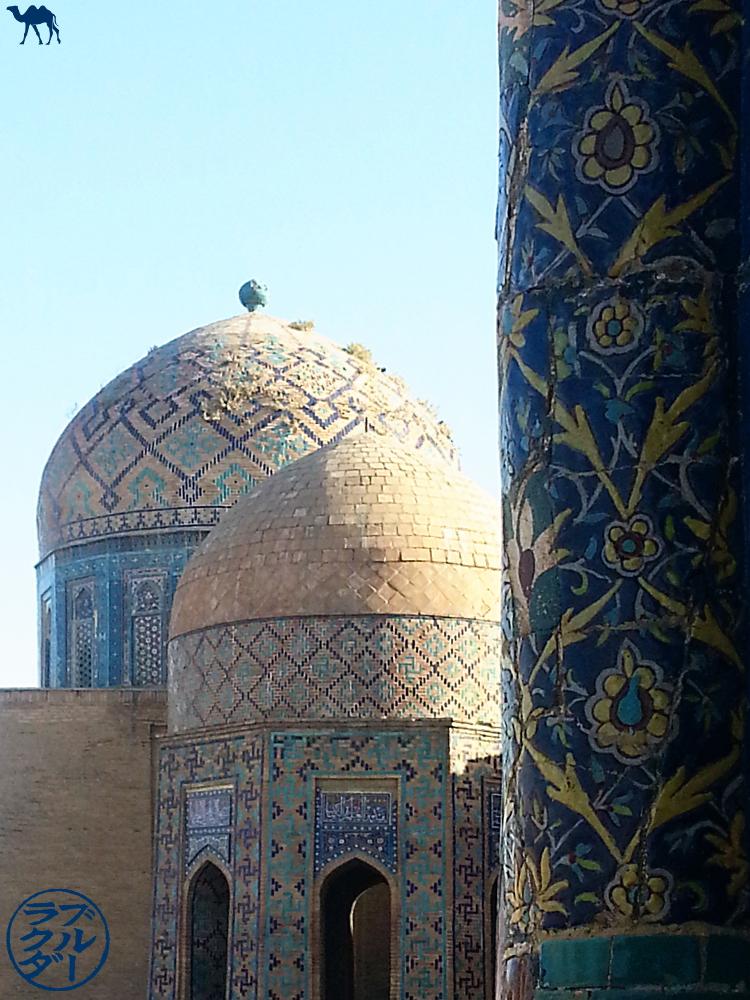 Le Chameau Bleu - Blog Voyage Ouzbékistan - Toits de la Nécropole Sha-i-Zinda à Samarcande