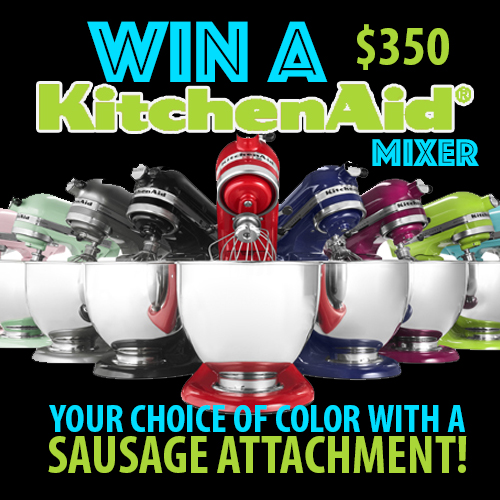 Take the Ohio Pork Council Survey to win a KitchenAid Mixer and sausage attachment