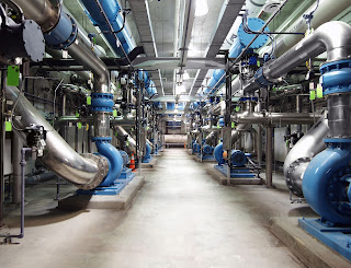 heavy duty industrial piping and pumps