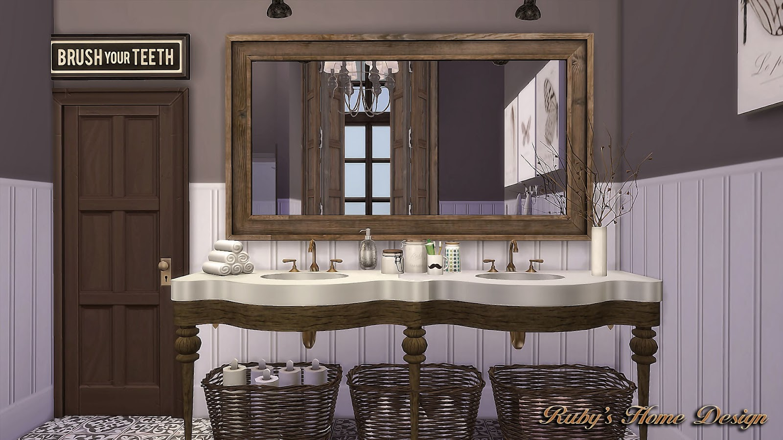 Sims4 Laundry Room Wall Panels 壁紙 Ruby S Home Design