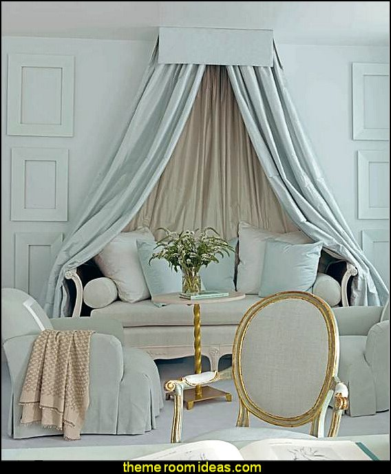 Luxury bedroom designs - Marie Antoinette Style theme decorating ideas