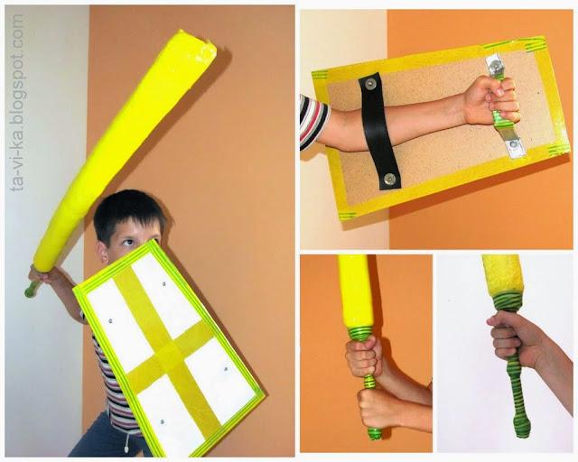 Как сделать щит из картона своими руками
