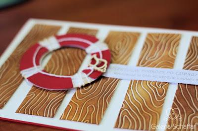 efekt drewna na papierze DIY embossing folder drewno i Distress