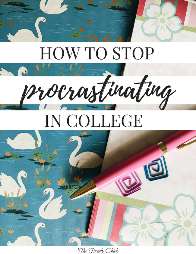 How To Stop Procrastinating In College