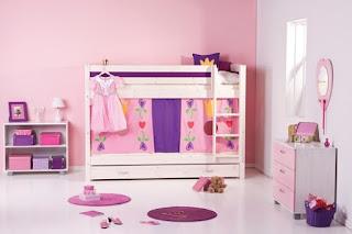 dormitorio niña rosa lila