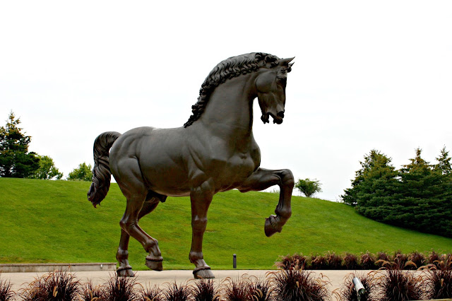 DaVinci Horse Sculpture at Frederik Meijer Gardens and Sculpture Park
