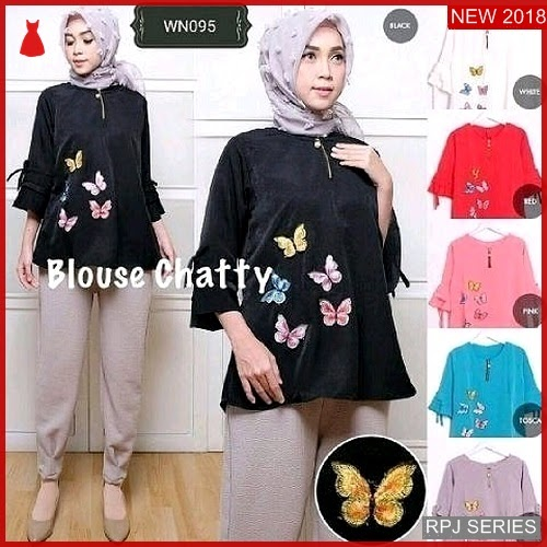 RPJ062A62 Model Atasan Blouse Cantik Chatty Wanita