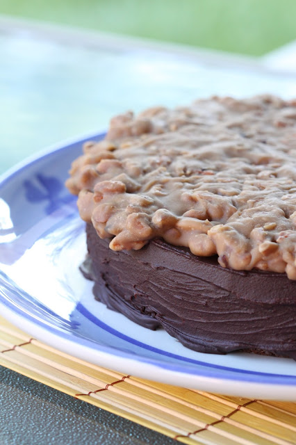 Chocolate Cake with Praline Topping | Tortillas and Honey