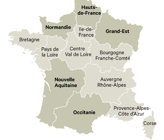 Behind the French Menu: Regions - France\'s Mainland Regions and ...