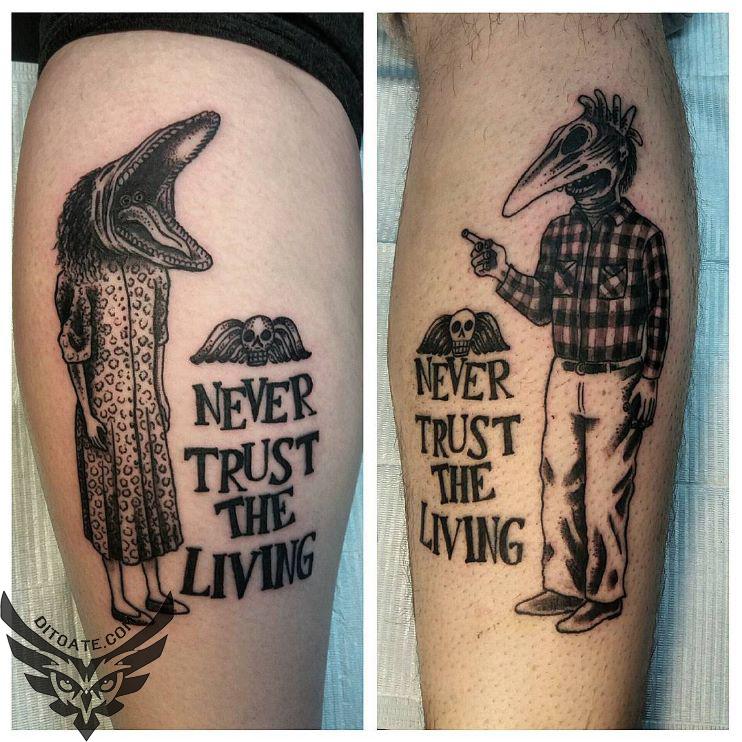 Modele Tatuaje Never Trust The Living Tattoo Characters Di Toate