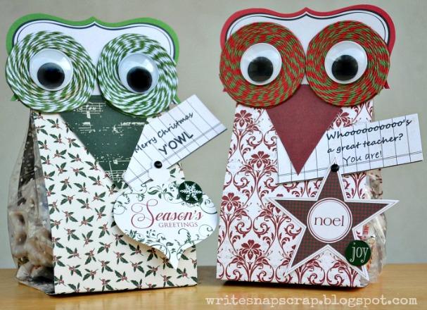 Write Snap S Teacher Gifts Owl Treat Bags