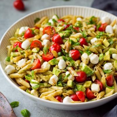 Avocado Caprese Pasta Salad Recipes