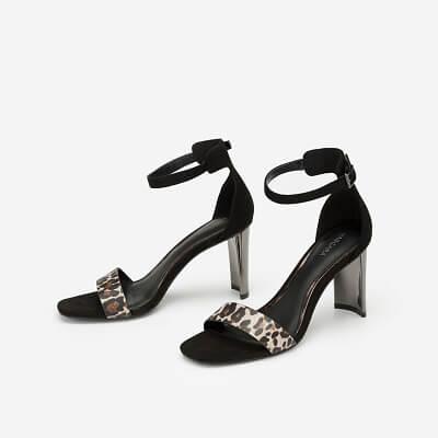 Giày Ankle Strap Phối Họa Tiết Da Báo - SDN 0643 - Màu Da Báo