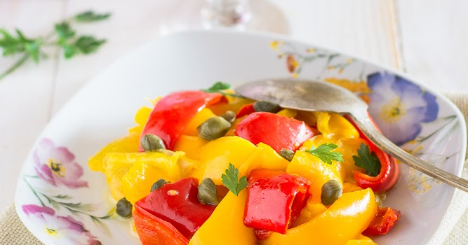 Contorno leggero di peperoni al vapore|ricetta Bimby