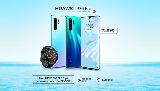 Huawei P30 Pro with a quad camera, 6.47-inch OLED screen launched in India at Rs. 71,990