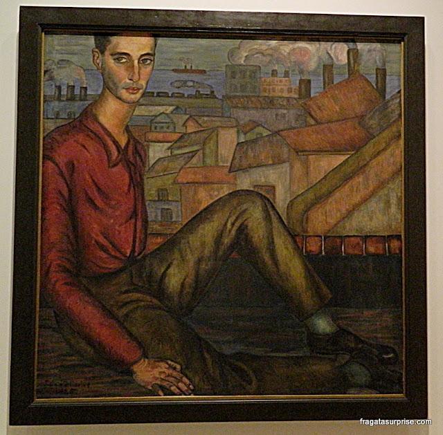 Retrato de Homem (1925), de Julio Castellanos, no Museu Nacional de Belas Artes, Buenos Aires, Argentina