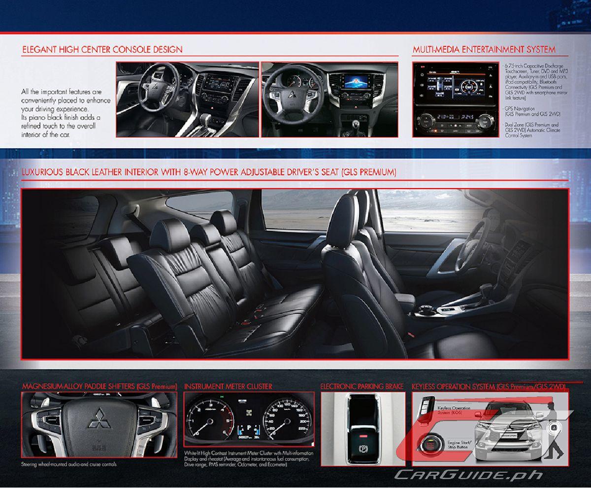 2017 Mitsubishi Montero Sport Interior >> Mitsubishi Motors Philippines Adds More Features to Montero Sport for 2018 (w/ Brochure ...
