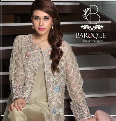61b5d1f40891d Finally Baroque is back with another, highly luxe and exclusive chiffon  collection for Eid-Ul-Azha. Baroque is going to launch Luxury Chiffon  Collection ...