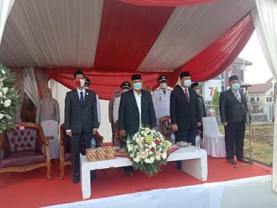Di Peringatan HUT Kemerdekaan RI Ke-76 Kecamatan Teluknaga, Ketua APDESI Harap Covid-19 Cepat Hilang