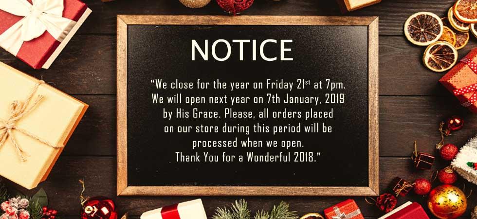 Yuli Interior Closure Notice 2018