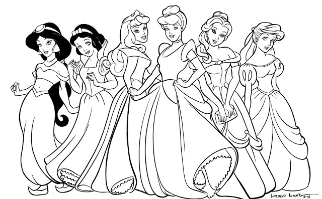 tranh tô màu công chúa Disney 10